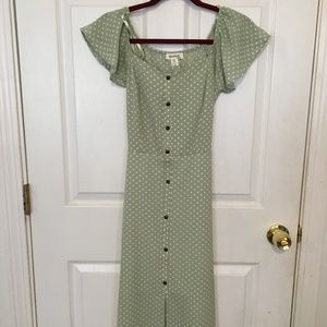 Monteau size small polka dot dress (NWT)
